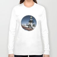 ski Long Sleeve T-shirts featuring ski park by Patrick Draper