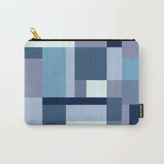 Abstract #387 Blue Harmony Carry-All Pouch