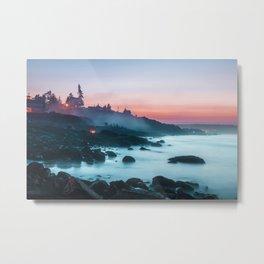 Light Sunrise Long Exposure Shoreline (Color) Metal Print