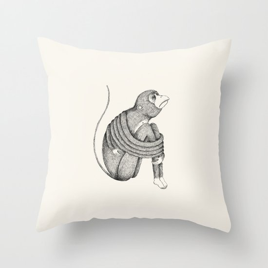 'Insecurity' Throw Pillow