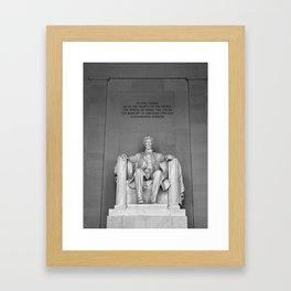 Lincoln Memorial II Framed Art Print