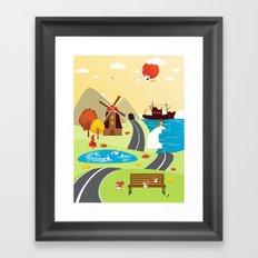 Planet Life Framed Art Print