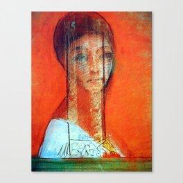 """Odilon Redon """"Veiled woman"""" Canvas Print"""