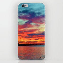 Sunset on Lake St. Clair in Belle River, Ontario iPhone Skin