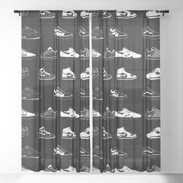 Black Sneaker Sheer Curtain