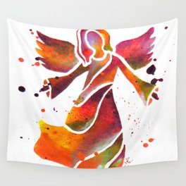Colorful Angel Acrylic Abstract Painting by Saribelle Rodriguez Wall Tapestry