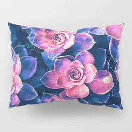Colorful Succulent Plants Pillow Sham