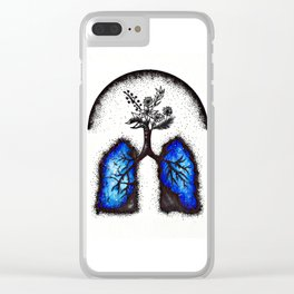 Galaxy in our lungs Clear iPhone Case