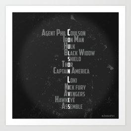 Coulson Lives Art Print
