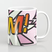 comic book Mugs featuring Comic Book MUM! by Thisisnotme