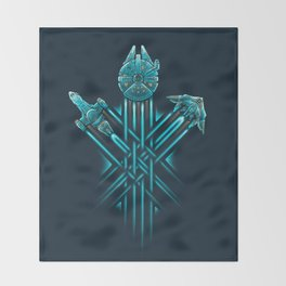 Rebel Paths Throw Blanket