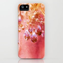 Crystal Chandelier First Blush iPhone Case