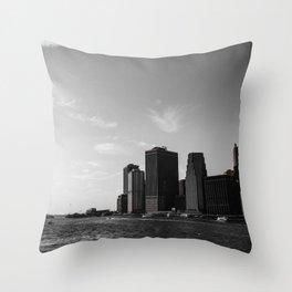 Manhattan Coast Throw Pillow