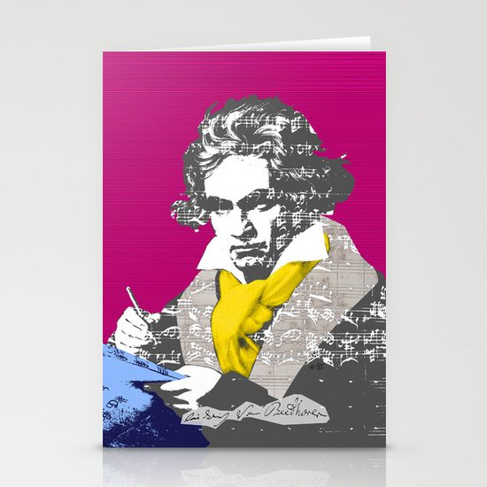 Ludwig van Beethoven 7 Stationery Cards