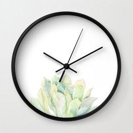 Watercolor succulent. Echeveria Wall Clock