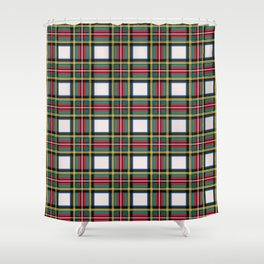 Minimalist Stewart Dress Tartan Modern Shower Curtain