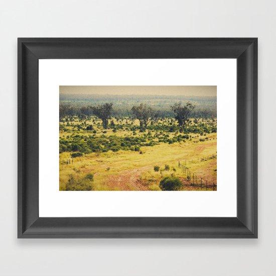 Down Framed Art Print