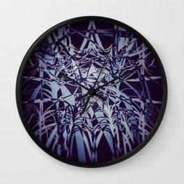 Blue Sparks Wall Clock