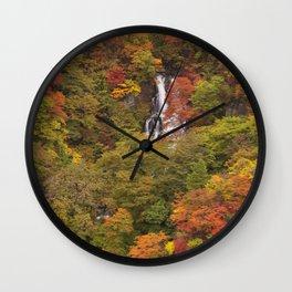 Kirifuri Falls near Nikko, Japan in autumn Wall Clock