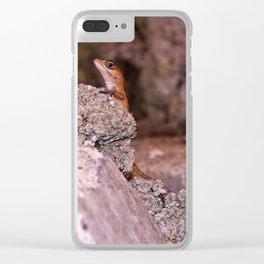 Cool lizard Clear iPhone Case