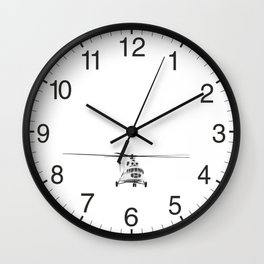 Russian Mi-8 Helicopter Wall Clock