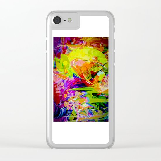 Nature Abstract 2 Clear iPhone Case