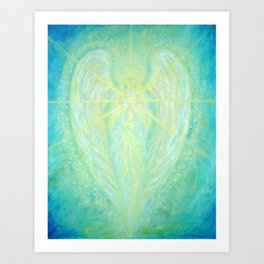 The Archangel Raphael - Angel of Healing Art Print