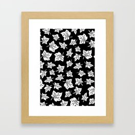 Autumn Leafs Pattern Framed Art Print