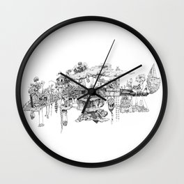 This Is Your Gun On Drugs Wall Clock