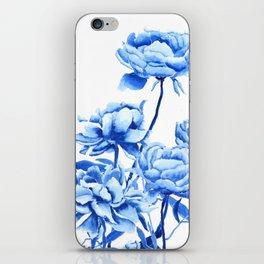 blue peonies 2 iPhone Skin