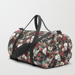 Vintage Floral With Skulls Duffle Bag