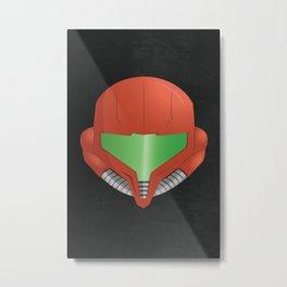 Samus Helmet - Super Metroid Metal Print