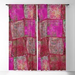 Ardor Collage (Pink & Red) Blackout Curtain