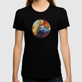 Night's Bright Colors - Color Liquid in Water T-shirt
