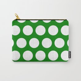 Big polka dots on green Carry-All Pouch