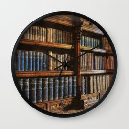 Knowledge - Antique Books on History & Law Wall Clock