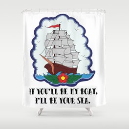 I live to let you shine. Shower Curtain