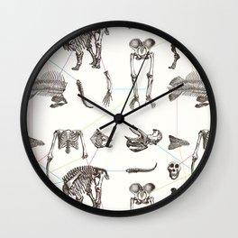 Puzzle bones Wall Clock