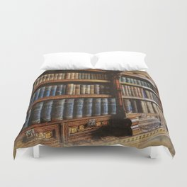 Knowledge - Antique Books on History & Law Duvet Cover
