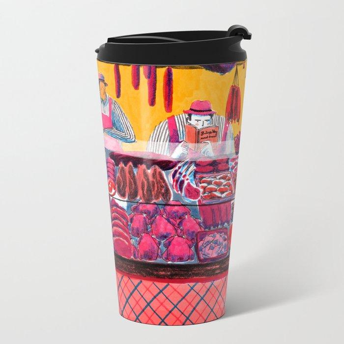 Meat Counter Metal Travel Mug