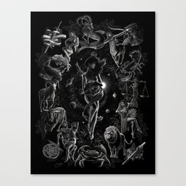 XXI. The World Tarot Card Illustration Canvas Print
