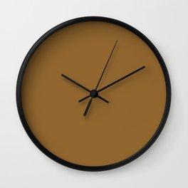 Golden Brown Wall Clock