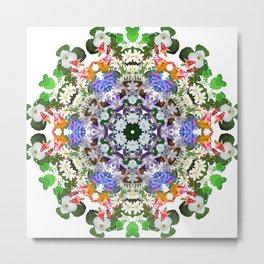 Spring wildflower mandala 2 Metal Print