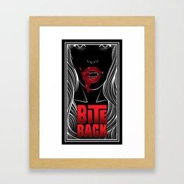 Once Bitten Framed Art Print