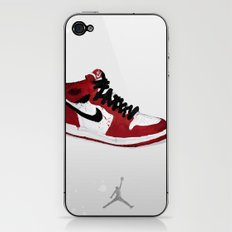 Nike Air Force 1 - Retro - Red & Black & White iPhone & iPod Skin