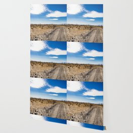 Lonely Dirt Road Cutting through the Barren Desert in the Anza Borrego Desert State Park Wallpaper