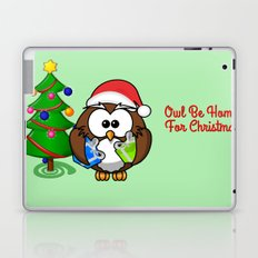 Owl Be Home for Christmas Laptop & iPad Skin