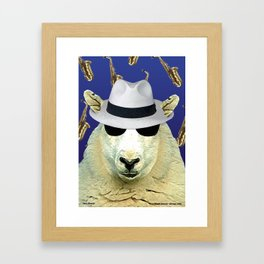 Jazz Sheep Framed Art Print