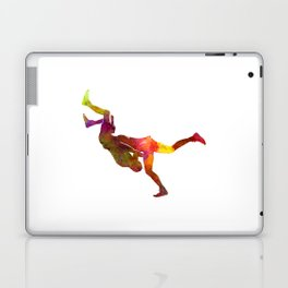 Wrestlers wrestling men 02 in watercolor Laptop & iPad Skin
