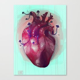 Sickly Heart Canvas Print